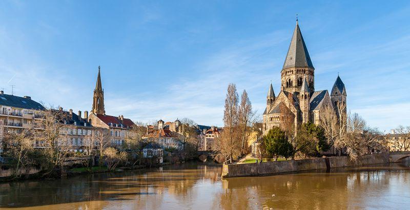 Nuevo templo de Metz en el Mosela