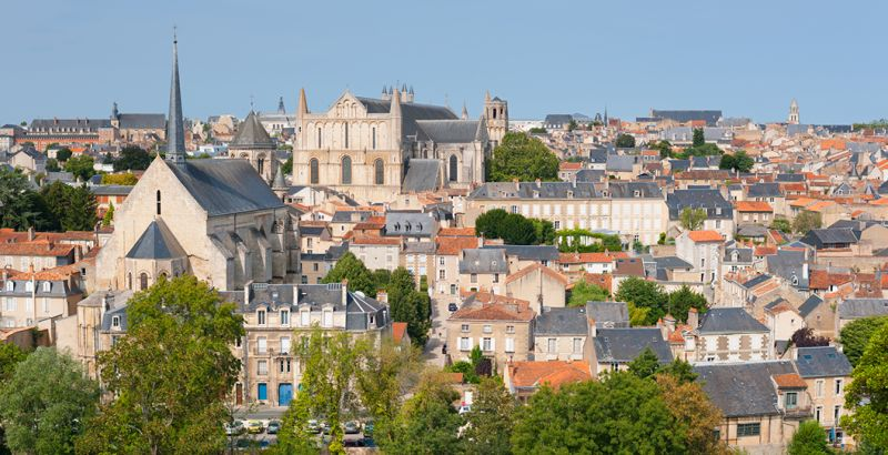 Panorama on the city of Poitiers