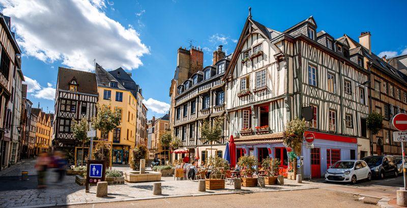 City center of Rouen