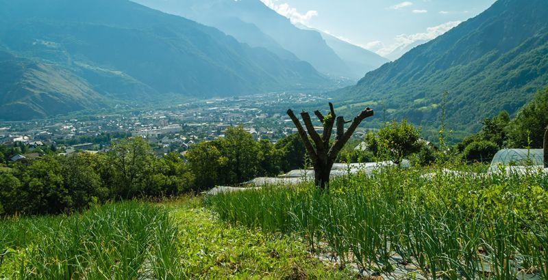 Vista de las montañas de Saint-Jean-de-Maurienne