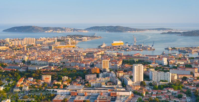 Panorama on the city of Toulon