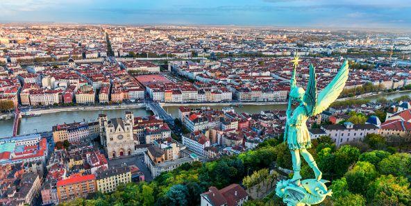 Panorama sur Lyon depuis la Colline de Fourvières