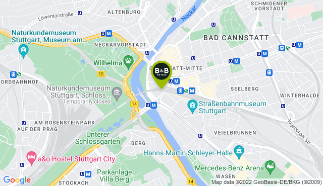 B&B Hotel Stuttgart Bad-Cannstatt