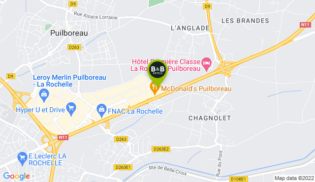 B&B Hotel La Rochelle Beaulieu Puilboreau