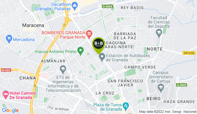 B&B Hotel Granada Estación - Granada Capital | B&B Hotels