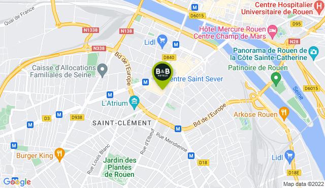 B&B Hotel Rouen Centre