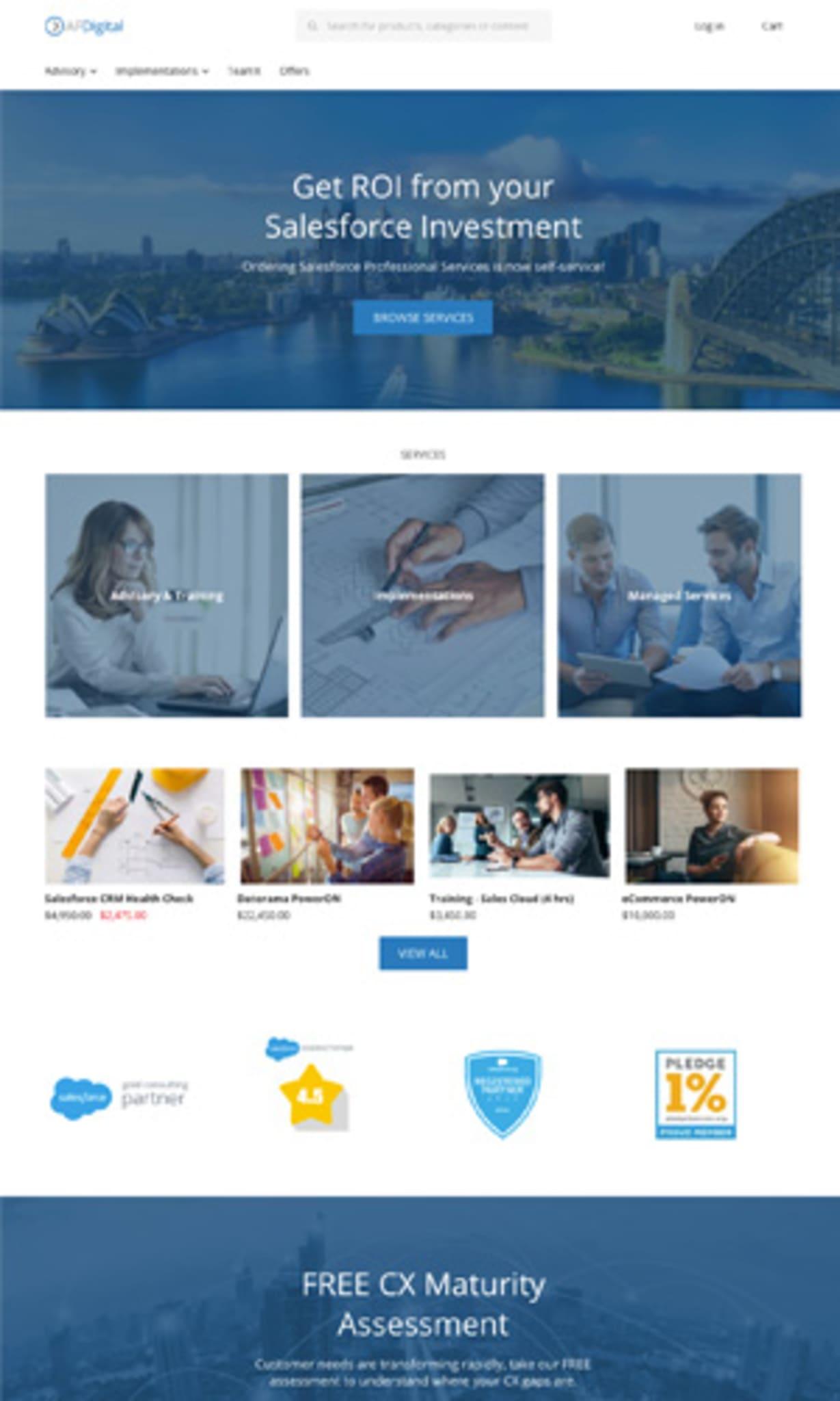 AFDigital site using storeConnect