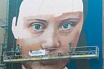 Greta Thunberg mural casts eyes over...