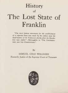 History of the Lost State of Franklin