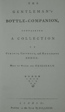 The Gentleman's Bottle Companion: A Collection of Eighteenth Century Bawdy Ballads