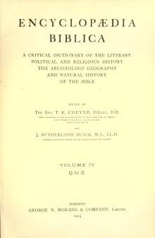 Encyclopaedia Biblica