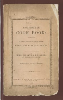 A Domestic Cook Book: Containing a Careful Selection of Useful Receipts for the Kitchen