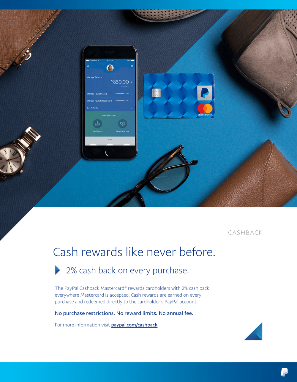 PayPal Cashback Poster