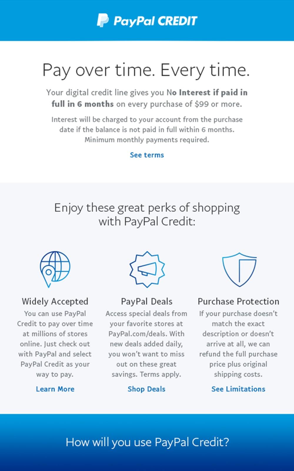 PayPal Credit Carousel 2 c