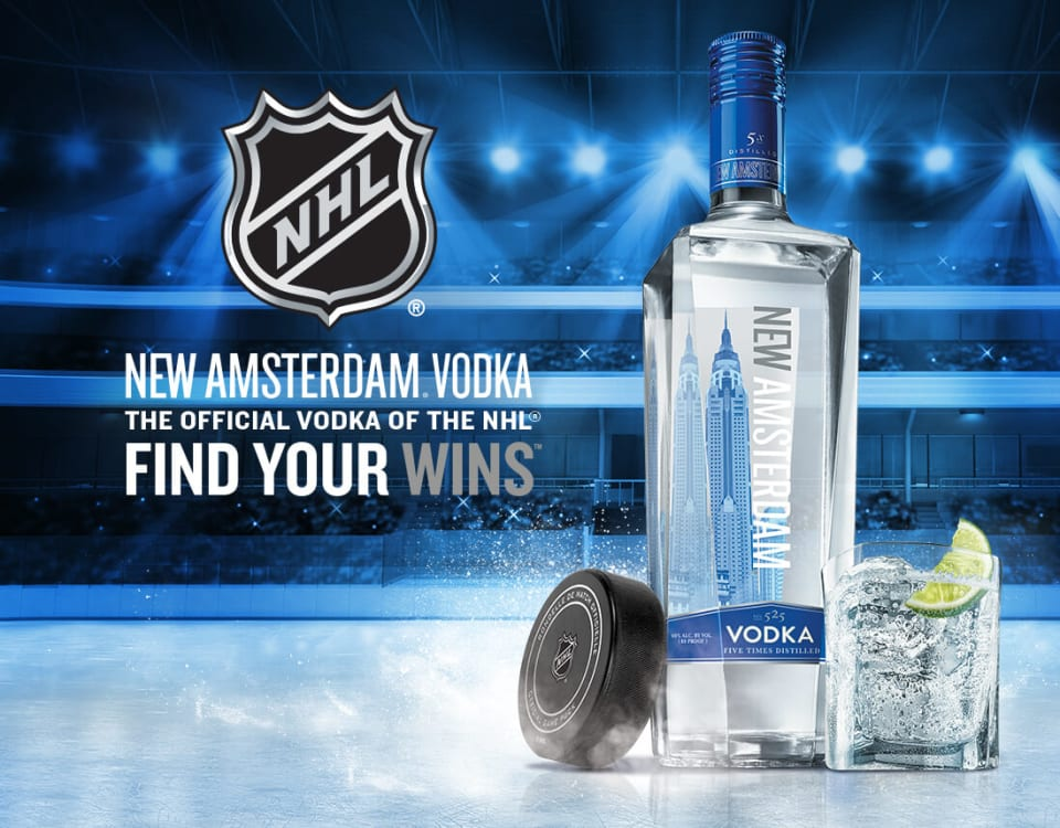 New Amsterdam Vodka Official Vodka of the NHL Example Project Image