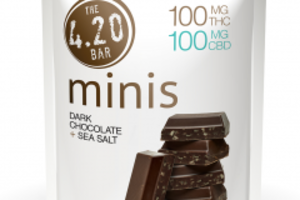 420 Minis - CBD Dark Chocolate Sea Salt 10-pack image