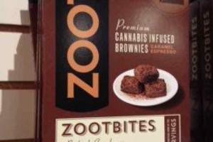 Baked Good - Zootbites Carmel Expresso Brownie 2pk image