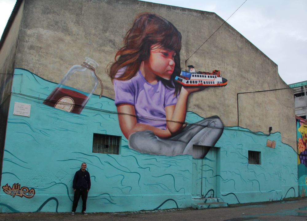 Arte De Rua Graffiti Pintura Realista