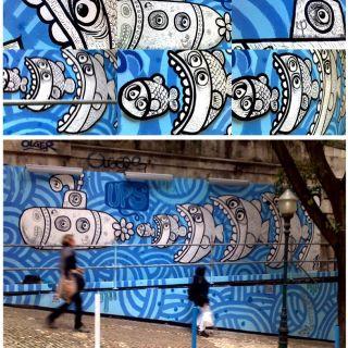 Pintura de Mural / Graffiti por Hugo Lucas