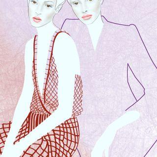 Fashion illustration por Anja Karboul