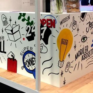 Live painting and graphic recording by Vikunia
