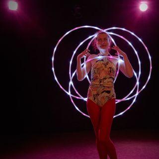 LED Hula Hoop Performance by Kristin Lahoop