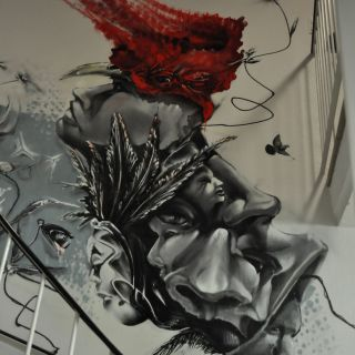 Mural-Art, Graffiti, large scale painting von BYRD