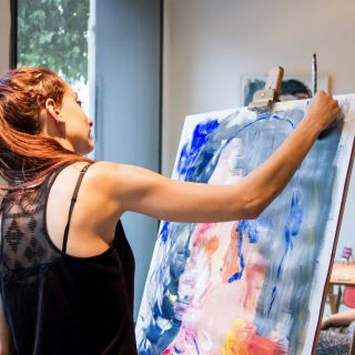 Live painting sessions by Clara Cabrera