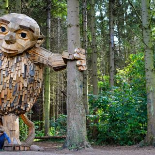 Recycle Wood Sculptures by Thomas Dambo