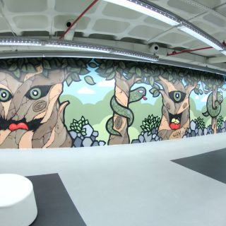 Pintura de Mural/Graffiti/Arte de Rua por Glam