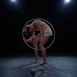 """Hula Hoop Act """"Very Fragile"""" by Kristin Lahoop"""