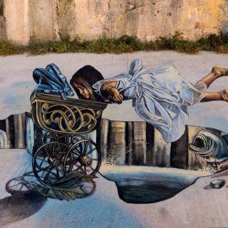 3D Street Painting and Chalk por Vera Bugatti