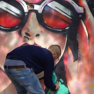 Großformatige Graffiti Portraits von Hannes Felix