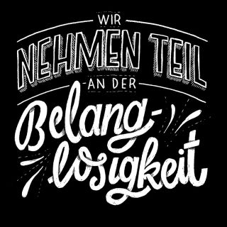 Hand-lettering for merchandise by Vikunia