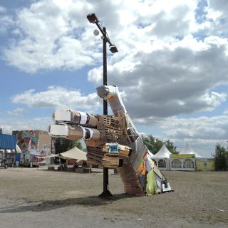 Upcycling Installation by Falk Land