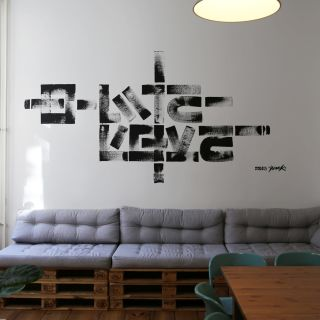 Abstract typography Murals by The Krank