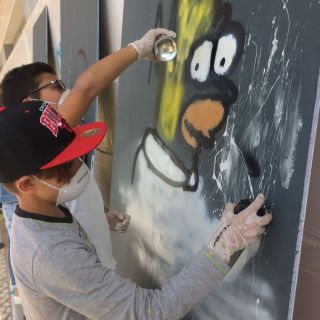 Workshops de Graffiti  por Dgiphi aka Asur