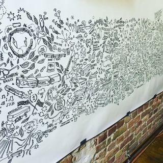 Live-drawing  von Roland Brückner