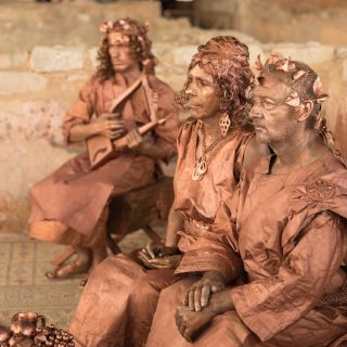 Living Statues - Roman Banquet by Selway Statues