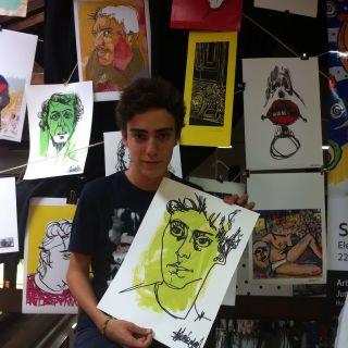 Retratos ao vivo por elena sanmiguel urbina