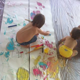 Painting and drawing workshop for babies by elena sanmiguel urbina