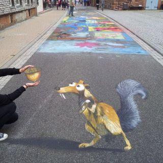 3D Street Art by Melina Berg