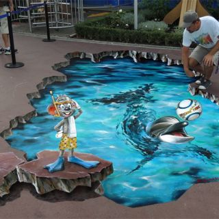3D Street Art und 3D Illusionsmalereien von 3D KunstAlex - Petscherskich Alexander