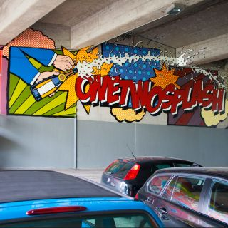 Murals, Typography, Illustration, Realism by One Two Splash