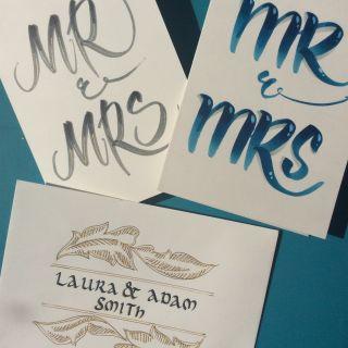Wedding handmade signs and decorations por Anya Rustic