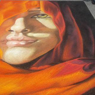 Street painting and sidewalk chalk art by Melina Berg