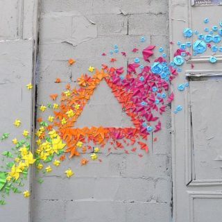 Origami and Paper Installations by Mademoiselle Maurice