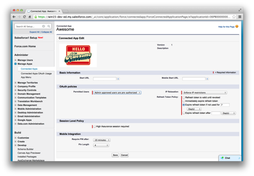 MobilePolicy jozo62 Implementing Single Sign On in Mobile Applications with Salesforce Identity