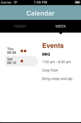 simple calendar app with mobile design templates developer force blog
