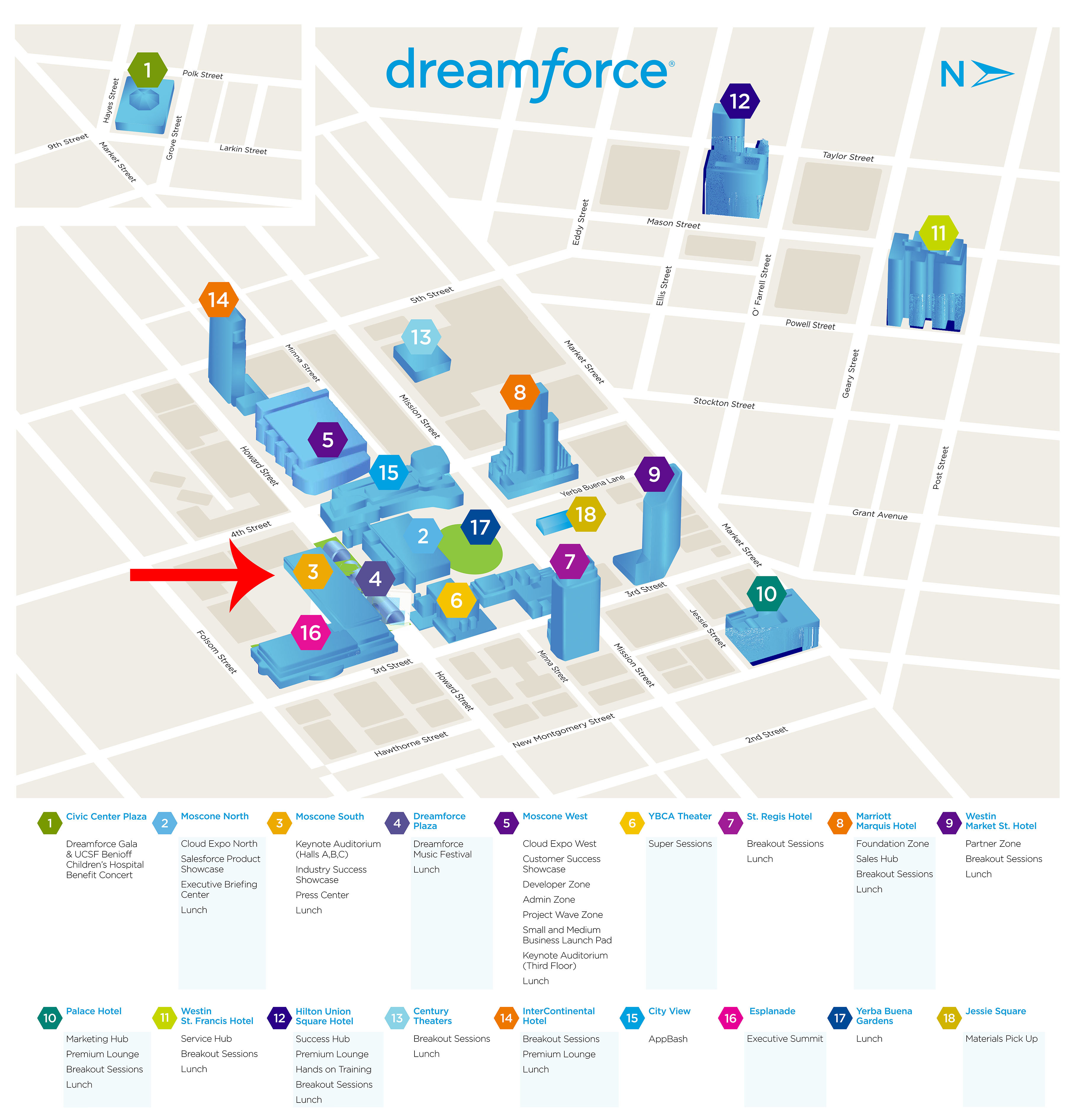 Campus Map: Dreamforce Campus Map on